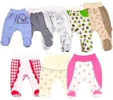Baby Hose mit Fuß Strampler Erstlingshose Baumwolle Größe 50 56 62 68 74 80 86