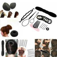 8 Kinds Fashion Women Magic Hair Styling Clip Stick Bun Maker Braid Tool DIY SET
