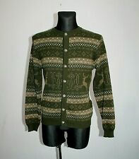 34c60841a1a Vtg ST Peter Womens Jumper Wool Cardigan Jacket Fairisle Nordic Austria  Size M