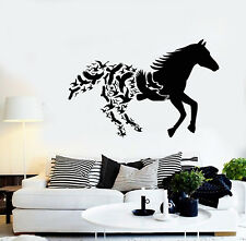 Vinyl Wall Decal Abstract Animals Galloping Horse Racing Birds Stickers (2061ig)