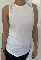 Lululemon Size 10 Sculpt Tank White WHT Top Mesh UPF Vented Swiftly Free Love