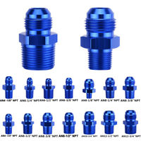 AN Male Flare to NPT Adapter Straight Pipe Thread Flare Reducer Fitting Aluminum