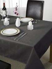 """Luxury Chequers Design Tablecloth Black 70 x 108 """" Large Dining Room Table Linen"""