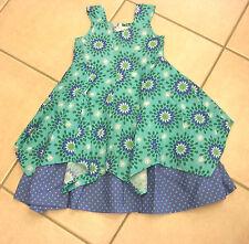 Kleid, blau und grün mit Blumenmotiv von Happy Girls.  NEU!!!