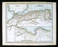 1857 Findlay Map - Ancient North Africa Mauretania Cyrene - Morocco Libya Tunis