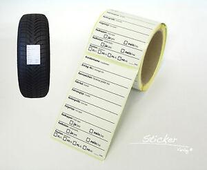 Kundendienstaufkleber 100 Stück Inspektionsaufkleber Reifenaufkleber