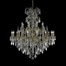 """Palace Brookville 24 Light 47"""" French Gold Crystal Chandelier"""
