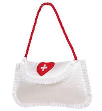 Krankenschwester Tasche Krankenschwestertasche weiß rot, Kostüm Accessoire