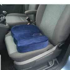 Blue  Spin, Coccyx & Back Support Pressure Relieve Memory Foam Car Seat Cushion
