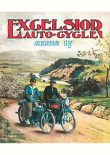 1916 Excelsior American X Series 17 motorcycles poster