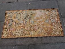 Machine Made French Design Original Wool faded Beige Aubusson Tapestry 74X144cm