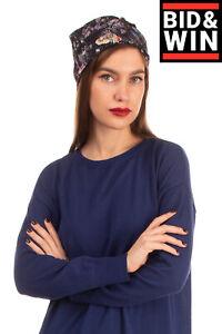 RRP €530 GIORGIO ARMANI Turban Cap One Size Patterned Twisted Straps