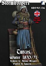 Stormtroopers Turco Franco Prussian War inc scenic base 1870 90mm Unpainted kit