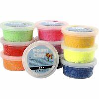Foam Clay selbsthärtende Modelliermasse 10 Dosen je 35 g Knetmasse (51,4 €/kg)
