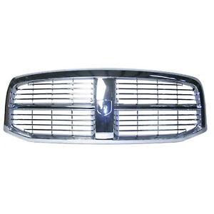 Front Grille Fits 2006-2008 Dodge RAM 1500 55077778AF