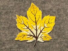 Maple Leaf Autumn Fall Embroidery  Iron On Patch Canadian Maple Tree Yellow