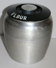 Vintage Kromex Flour kitchen countertop canister made of aluminum NICE COND.
