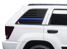 Blue Line Flag Decal Set - Police Fits Jeep Grand Cherokee Laredo American WW2-B