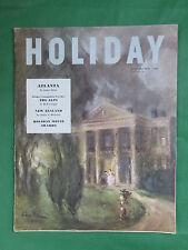 Vintage HOLIDAY Magazine Jan. 1951 PITTMAN Cover ROBERT CAPPA JAMES A. MICHENER
