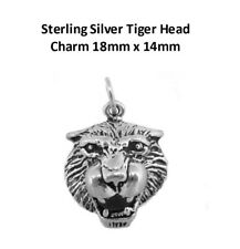 Sterling Silver Tiger Head Charm 18mm x 14mm VT-SS-1271