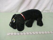 tonka pp pound puppies black plush doll toy cuddle puppy dog sad cute
