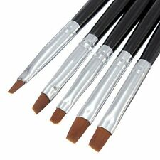 New 5 pcs Brushes Uv Gel Brush Nail Painting Drawing Liner Flat Nail Art Display