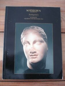 Sotheby's London Antiquities Paperback Catalogue - Thursday 8th December 1994