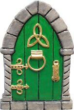 GREEN Irish Celtic Fairy Door 4 Faeries Pixies In/outdoor By Peakdalesculptures