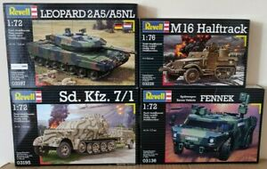 4 boxes of Revell  1:72/1:76 Scale Plastic Kits  NEW