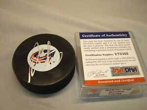 Marian Gaborik Signed Columbus Blue Jackets Hockey Puck Auto. PSA/DNA COA 1A
