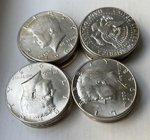Kennedy Half Dollar Roll, 20 Coins - 40% Silver, Circulated, Choose How Many!