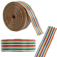 1.27mm Spacing Pitch 20P Flat Rainbow Ribbon Extension Cable Wire Dupont Line