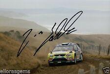 "Rally Driver Jari-Matti Latvala Hand Signed Photo Ford WRC 12x8"" AH"