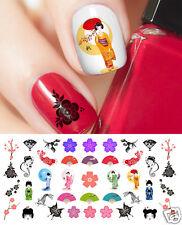 Geisha Girl Japanese Nail Art Waterslide Decals - Salon Quality!