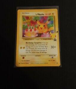 BIRTHDAY PIKACHU - POKEMON CELEBRATIONS - RARE HOLO CARD