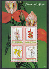 Liberia 2014 MNH Orchids of Africa 4v M/S II Flowers Flora