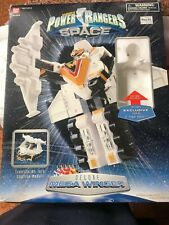 Power Rangers Deluxe Mega Winger with Silver Ranger and box