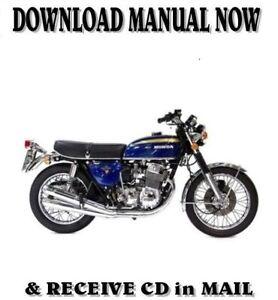Honda CB750 four A, K, & F factory repair shop service manuals on CD (1969-78)