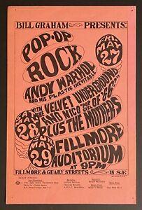 BG-8 VELVET UNDERGROUND MOTHERS Warhol Fillmore 1966 WILSON ORIGINAL HANDBILL