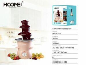 Fontana Di Cioccolato Fuso Elettrica Cascata Cioccolato 500ml 30w Hoomei Hm-6250
