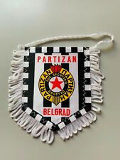 Partizan Belgrad fanion vintage football banderin pennant wimpel