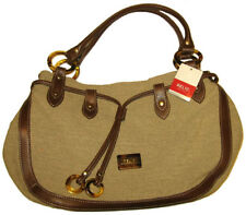New RELIC ~Blake~ Shopper Purse XL) 10x15 Vegan Fabric Faux Leather Trim NWT $58
