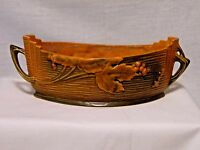 "ROSEVILLE POTTERY 385 10"" LONG PLANTER BUSHBERRY ORANGE"
