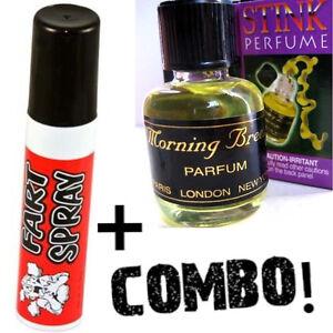 1 Fart Spray Can + 1 Stink Liquid Perfume ~ Butt Crack Ass Bomb Smell ~ COMBO!