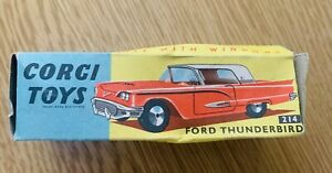 Corgi 214 Ford Thunderbird Original Box Only