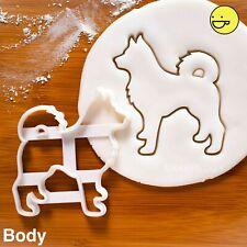 Husky Body cookie cutter |pet dog portrait adoption vet gift Veterinary siberian