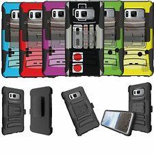 For Samsung Galaxy Note 8 N950 Dual Bumper Belt-Clip Kickstand Case - Retro Game