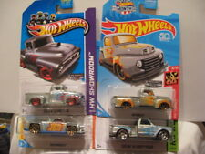 HOT WHEELS ZAMAC '49 FORD F1, '56 FORD F100, '69 CHEVY P/U, SOLID MUSCLE