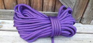 "1/2 "" x 50 ft. Double Braid-Yacht Braid Polyester Rope Hank.Purple"
