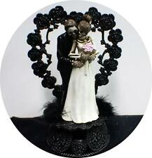 Day of the DEAD Halloween Wedding Cake Topper Funny Skeleton Bride Groom topHear